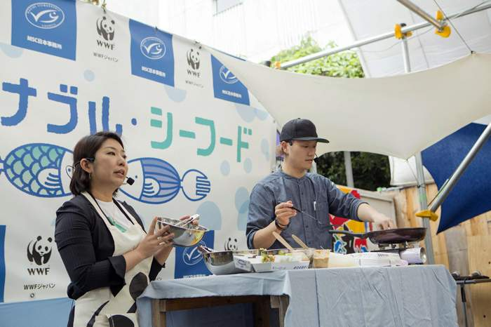 Sustainable Seafood Week cooking event in Tokyo